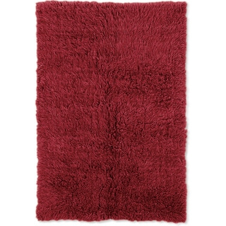 Linon Flokati Heavy Red Rug (8' x 10')