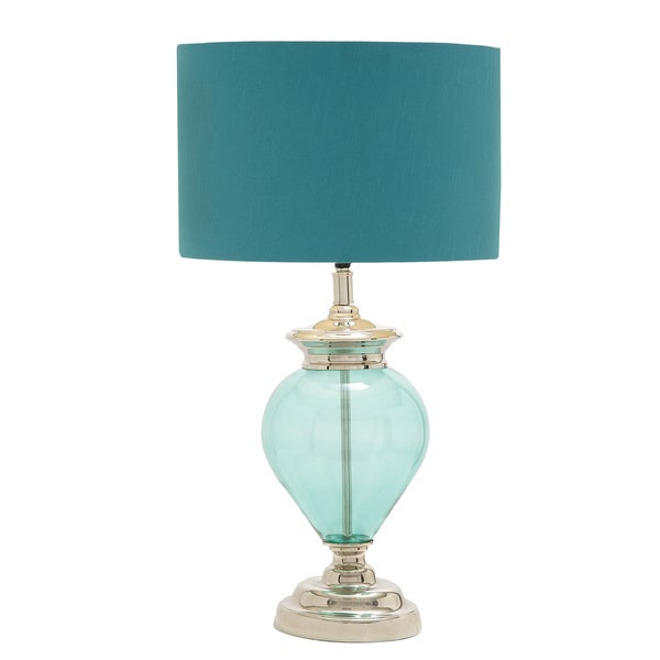 casa cortes sea glass 28 inch handcrafted table lamp 16286430. Black Bedroom Furniture Sets. Home Design Ideas