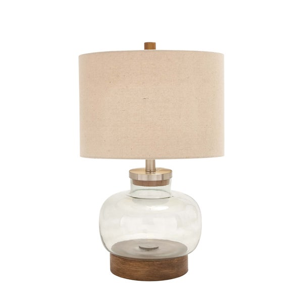 cortes pacific shores fillable glass 23 inch handcrafted table lamp. Black Bedroom Furniture Sets. Home Design Ideas