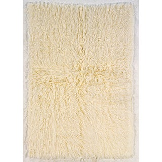 Oh! Home Flokati Extreme Heavy Natural Rug (5' x 7')