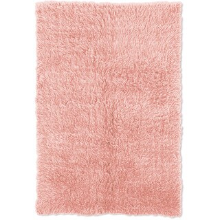 Oh! Home Flokati Heavy Pastel Pink Rug (2' x 5')