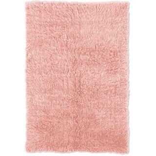 Oh! Home Flokati Heavy Pastel Pink Rug (2' x 8')