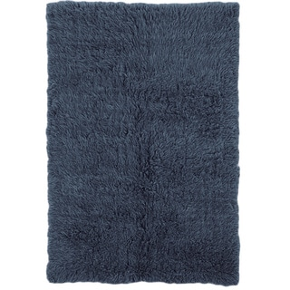 Flokati Heavy Denim Blue Rug (4' x 6')