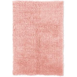 Linon Flokati Heavy Pastel Pink Rug (4' x 6')