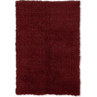 Linon Flokati Heavy Burgundy Rug (8' x 10')