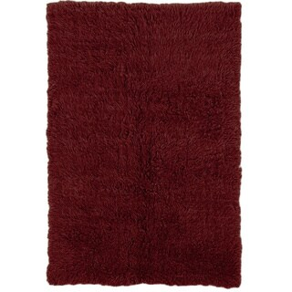 Oh! Home Flokati Super Heavy Burgundy Rug (3' x 5')