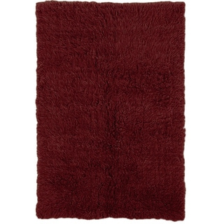 Oh! Home Flokati Super Heavy Burgundy Rug (4' x 6')
