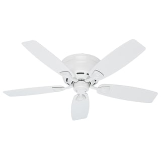 Hunter Sea Wind 48-inch ETL Damp Rated White Ceiling Fan
