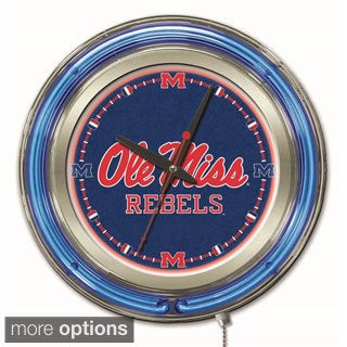 Holland Neon SEC Team Logo Clocks