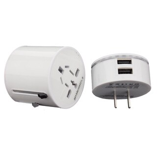 Compact Universal All-In-One International USB Travel Power Adapter Plug