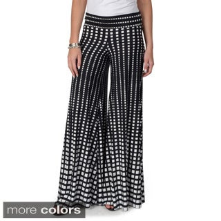 Journee Collection Women's Fold-over Palazzo Pants
