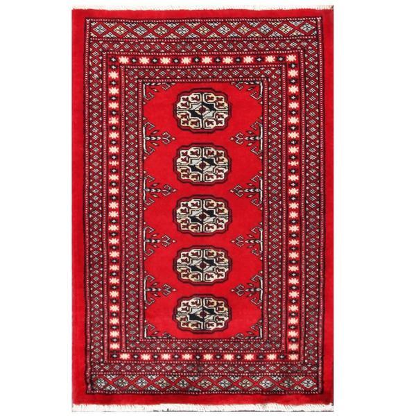 Herat Oriental Pakistani Hand-knotted Tribal Bokhara Wool Rug (2'1 x 3'2) - 2'1 x 3'2 13075715