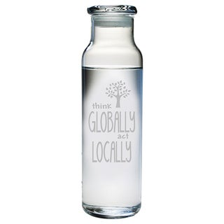 Think Globally Act Locally Water Bottle