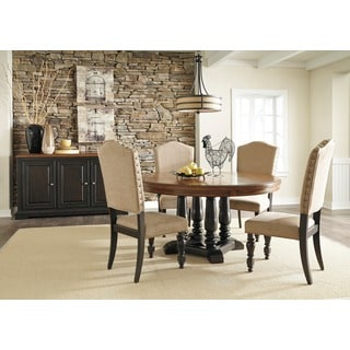 Signature Design by Ashley Shardinelle Two-tone Vintage Brown Round Dining Room Table