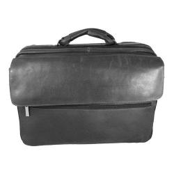 David King Leather Black Carry On Overnight Laptop Tote Bag