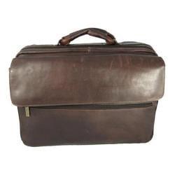 David King Leather Cafe Carry On Overnight Laptop Case