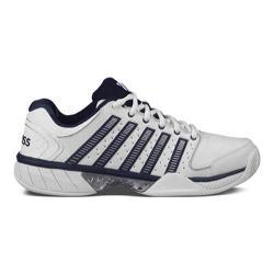 Men's K-Swiss Hypercourt Express LTR Tennis Shoe White/Navy/Silver