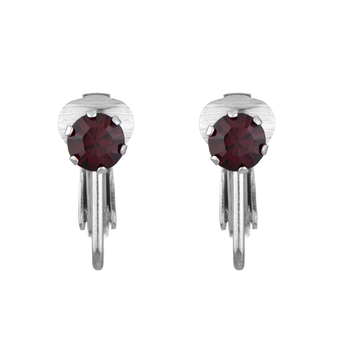 Cubic Zirconia Imitation Birthstone Clip-on Earrings