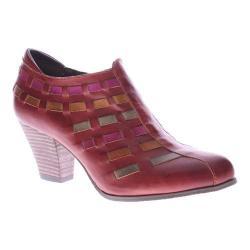 Women's L'Artiste by Spring Step Brilliance Bootie Dark Red Multi Leather