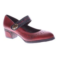 Women's L'Artiste by Spring Step Festive Mary Jane Dark Red Leather