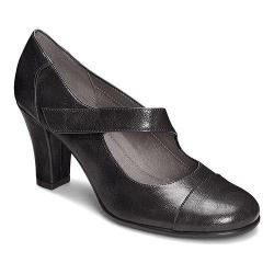 Women's A2 by Aerosoles On A Role Mary Jane Black Faux Leather