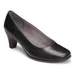 Women's A2 by Aerosoles Redwood Pump Black Faux Leather