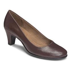 Women's A2 by Aerosoles Redwood Pump Brown Faux Leather