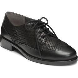 Women's Aerosoles Accomplishment Black Snake Embossed Leather