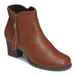 Women's Aerosoles Acrobatic Ankle Boot Tan Faux Leather