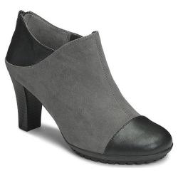 Women's Aerosoles Commentary Ankle Boot Grey Faux Suede/Faux Leather