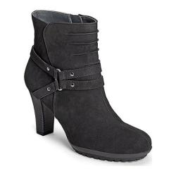 Women's Aerosoles Ment To Be Ankle Boot Black Leather