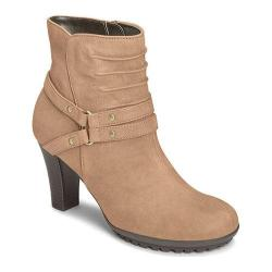 Women's Aerosoles Ment To Be Ankle Boot Taupe Leather