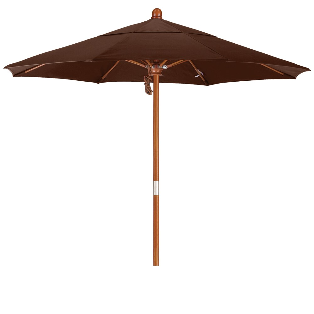 Somette 7.5-Foot Market Umbrella with Marenti Wood Frame and Olefin Fabric