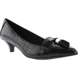 Women's Anne Klein Miguela Kitten Heel Black Multi Leather