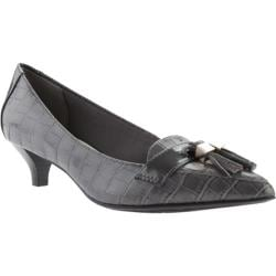 Women's Anne Klein Miguela Kitten Heel Dark Grey Multi Leather