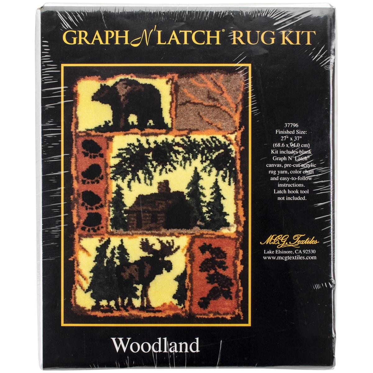 "Latch Hook Kit 27""X37""-Woodland"