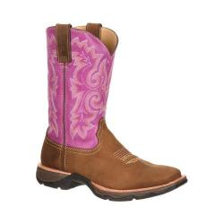 Women's Durango Boot DRD0050 10in Pull-On Ramped Up Lady Rebel Distressed Brown/Lilac Leather