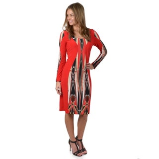 Journee Collection Women's Long Sleeve Multicolor Dress