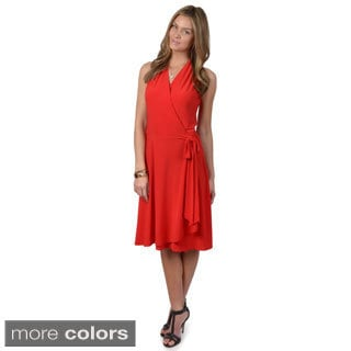 Journee Collection Women's Sleeveless Wrap Dress