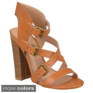 Journee Collection Women's 'Sage-2' Strappy High Heel Sandals