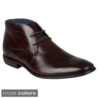 Steve Madden Men's 'Disick' Leather Lace-up Dress Shoes
