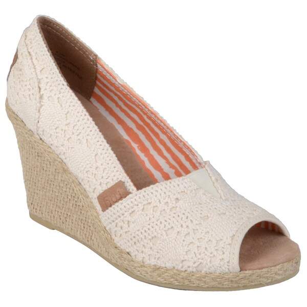 Madden Girl Women's 'Tackle' Lace Open-toe Espadrilles
