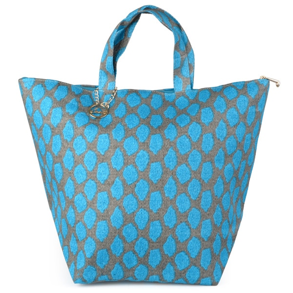 Journee Collection Women's Zippered Double Handle Tote Bag