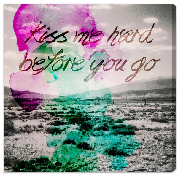 Oliver Gal 'Kiss Me Hard Before You Go' Canvas Art