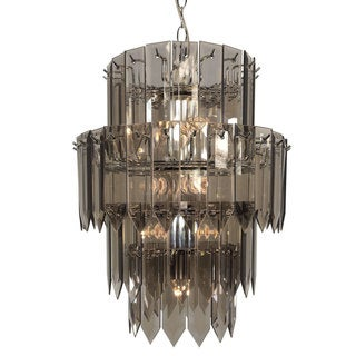 10-light Multi-tier Chandelier with Chrome Finish