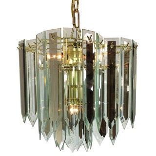 4-light Clover shaped Chandelier with Brass Finish