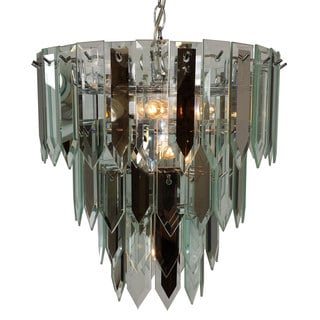 7-light Multi-tier Chandelier with Chrome Finish