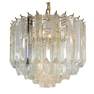 4-light Multi-tiered Chandelier with Brass Finish