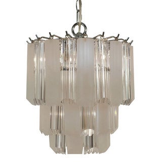 4-light Multi-tier Chandelier with Chrome Finish