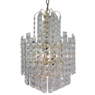 6-light Multi-tier Chandelier with Brass Finish